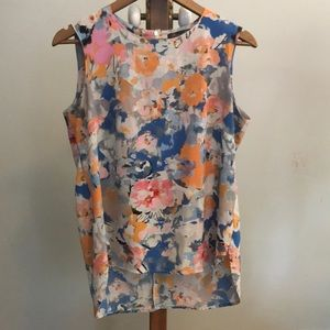 Rose and Olive Blouse floral paint strokes